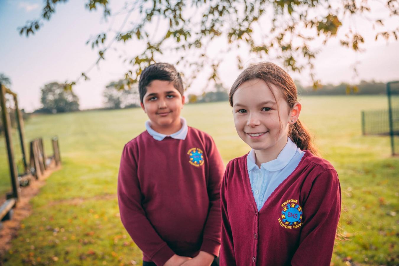 Pupils in South Hiendley uniform
