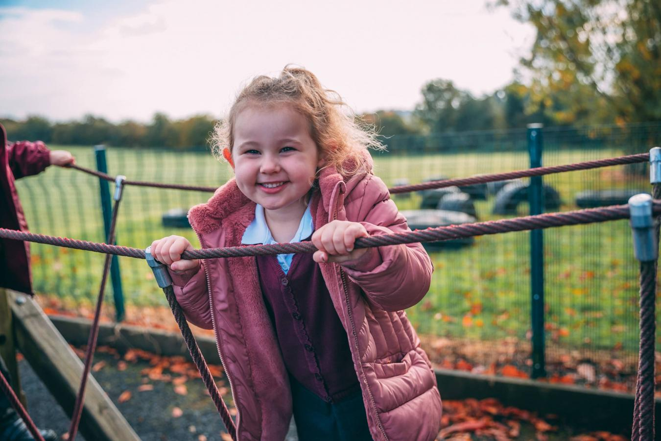 A girl in the playground